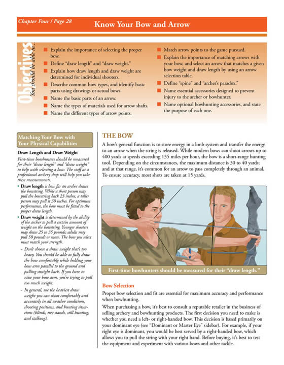 Bowhunter handbook page screenshot